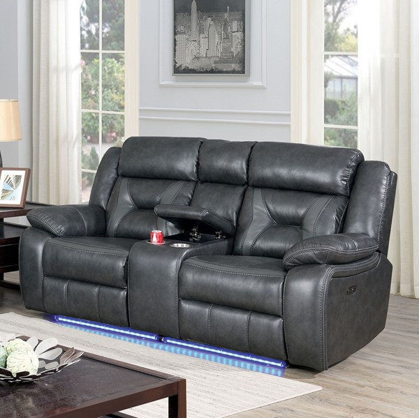Furniture Of America Marnie Gray Power Love Seat FOA-CM6641GY-LV-PM
