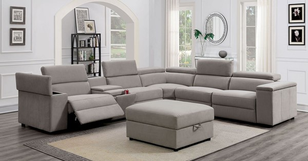 Furniture Of America Josef Gray Console Sectional FOA-CM6645-SECT-AC