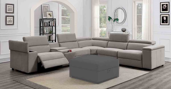 Furniture Of America Josef Gray Sectional FOA-CM6645-SECT