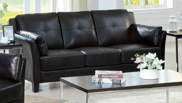 Furniture of America Pierre Black Sofa FOA-CM6717BK-SF-PK