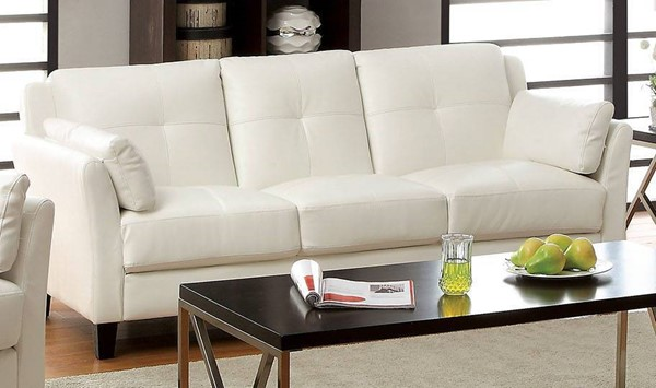 Furniture of America Pierre White Sofa FOA-CM6717WH-SF-PK