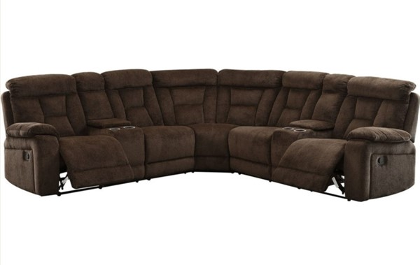 Furniture of America Maybell Brown Sectional FOA-CM6773BR-SECTIONAL