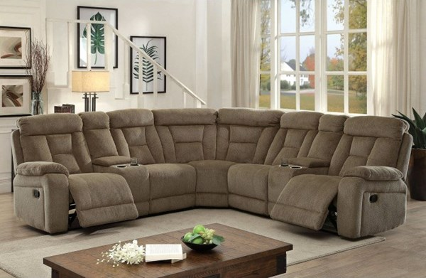 Furniture of America Maybell Mocha Sectional FOA-CM6773MC-SECTIONAL