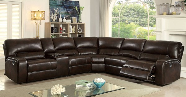 Furniture of America Jolene Sectional with Console FOA-CM6838-SECTIONAL