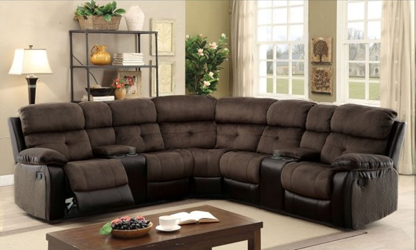 Furniture of America Hadley II Sectional with Consoles FOA-CM6871-SECTIONAL