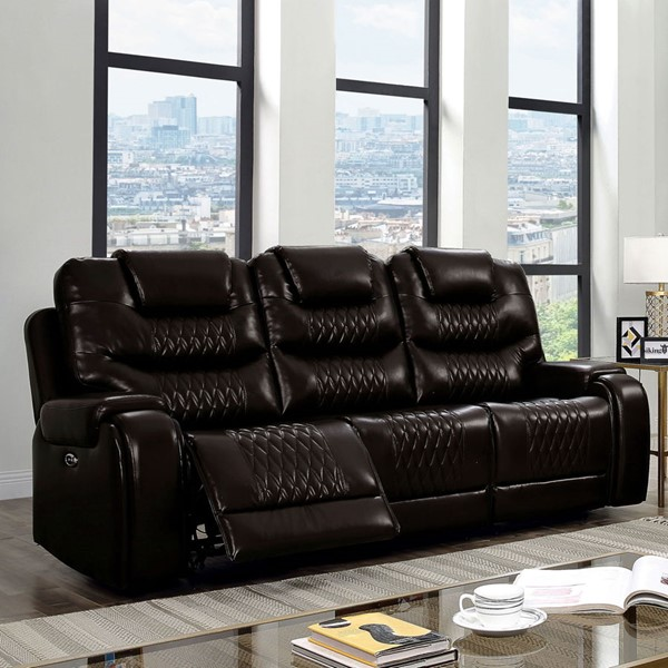 Furniture of America Marley Faux Leather Sofas FOA-CM6894-SF-VAR