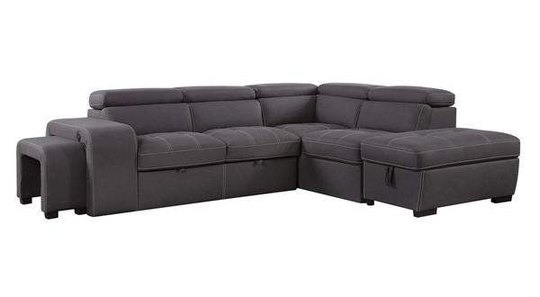 Furniture Of America Isak Graphite Sectional FOA-CM6945-SECT