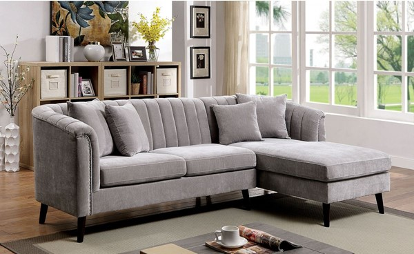Furniture Of America Goodwick Light Gray Sectional FOA-CM6947-SECT