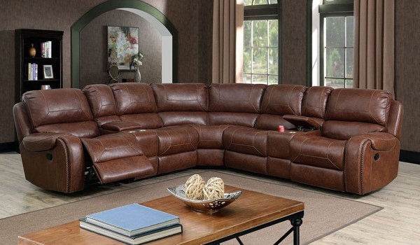 Furniture Of America Joanne Brown Sectional FOA-CM6951BR-SECT