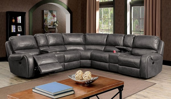 Furniture Of America Joanne Gray Sectional FOA-CM6951GY-SECT