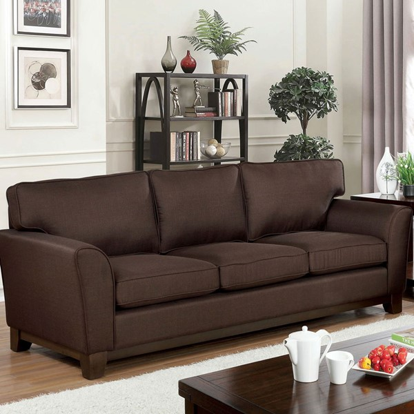 Furniture Of America Caldicot Brown Sofa FOA-CM6954BR-SF