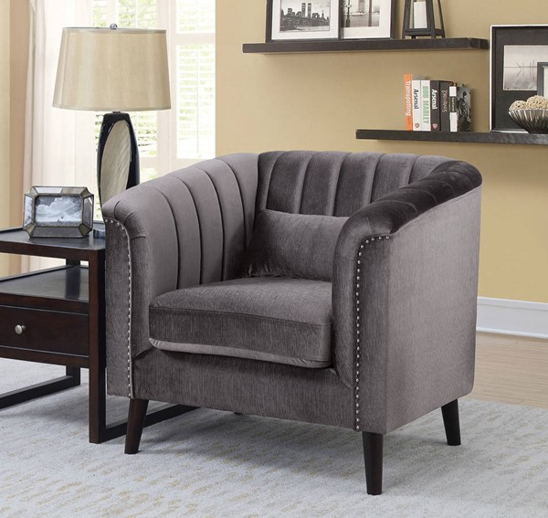Furniture of America Dawn Gray Chair with Pillow FOA-CM6955-CH