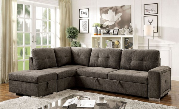 Furniture Of America Risca Gray Sectional FOA-CM6956GY-SECT