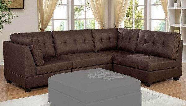 Furniture of America Pencoed Brown Sectional FOA-CM6957BR-SECT