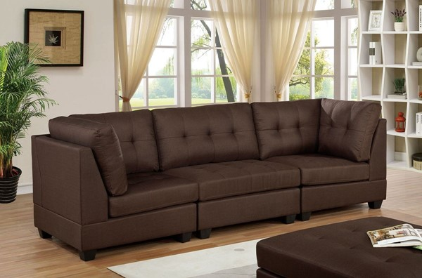 Furniture Of America Pencoed Brown Sofa FOA-CM6957BR-SF-PK
