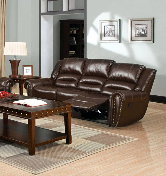 Furniture of America Dundee Sofa with 2 Recliners FOA-CM6960S