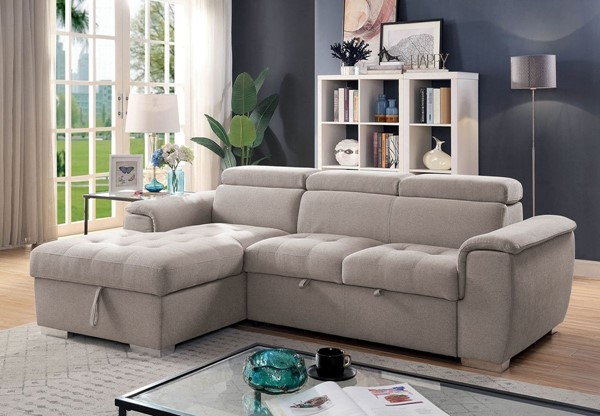 Furniture Of America Stina Light Gray Sectional FOA-CM6965-SECT