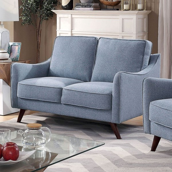 Furniture Of America Maxime Blue Brown Loveseats FOA-CM6971-LS-VAR