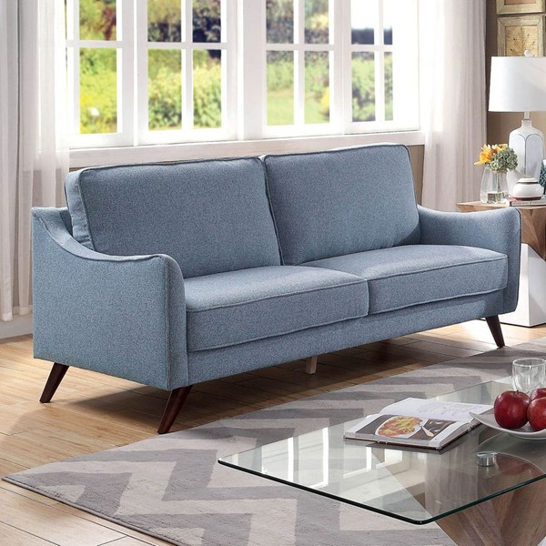 Furniture Of America Maxime Blue Sofa FOA-CM6971BL-SF
