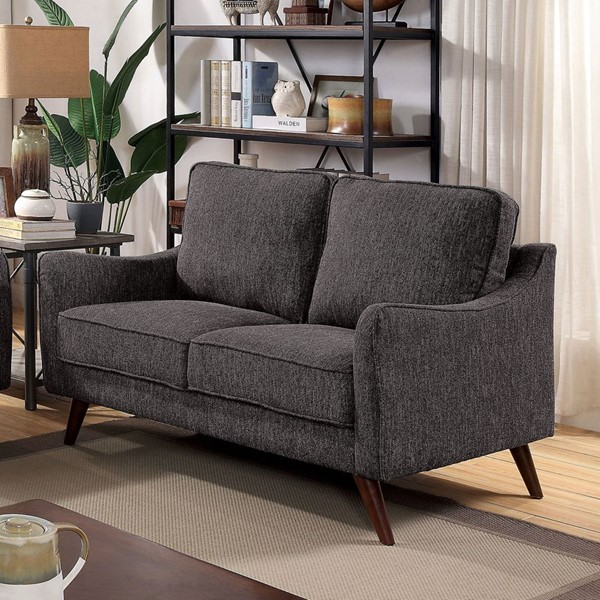 Furniture Of America Maxime Gray Loveseat FOA-CM6971GY-LV