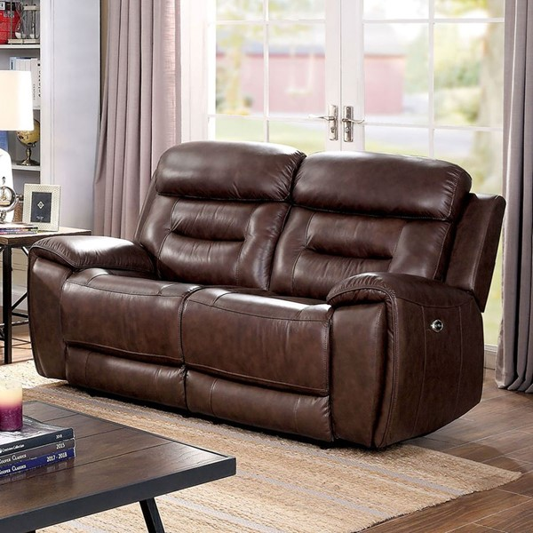 Furniture Of America Victor Brown Power Love Seat FOA-CM6972-LV