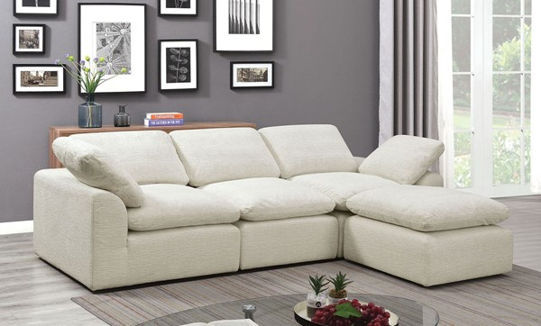 Furniture Of America Joel Cream Gray 4pc Sectionals FOA-CM6974-4SEAT-VAR