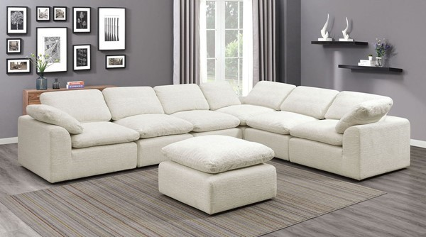 Furniture Of America Joel Cream 6pc Sectional FOA-CM6974BG-6SEAT