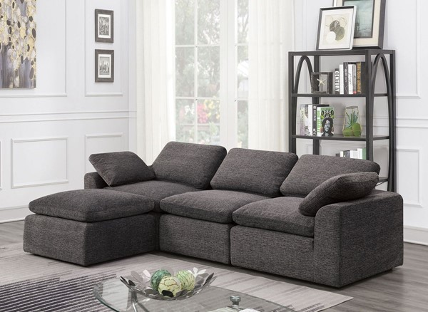 Furniture Of America Joel Gray 4pc Sectional FOA-CM6974GY-4SEAT