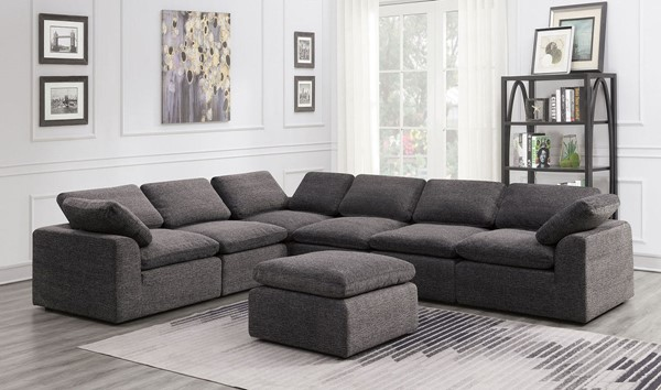 Furniture Of America Joel Gray 6pc Sectional FOA-CM6974GY-6SEAT