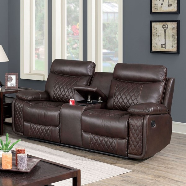 Furniture Of America Manda Brown Love Seat FOA-CM6978-LV