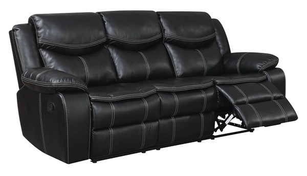 Furniture Of America Gatria Black Recliner Sofa FOA-CM6981-SF