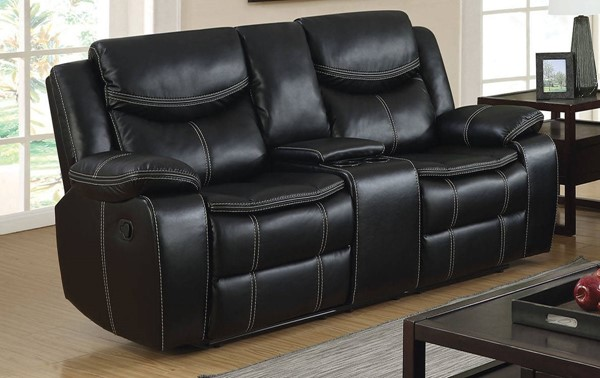 Furniture Of America Gatria Recliner Loveseats with Console FOA-CM6981-LV-CT-VAR