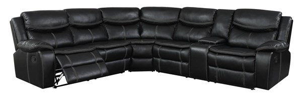 Furniture Of America Gatria II Black Sectional With Console FOA-CM6982-SECTIONAL