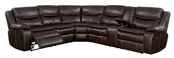Furniture of America Pollux Brown Sectional FOA-CM6982BR-SECTIONAL