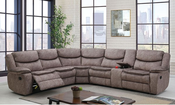 Furniture Of America Gatria Gray Sectional FOA-CM6982GY-SECT