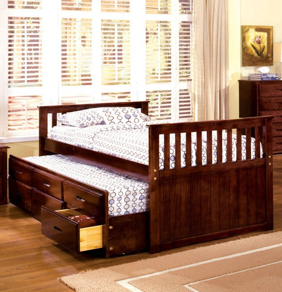 Furniture of America Montana Trundle Drawers Twin Bed FOA-CM7031-BED