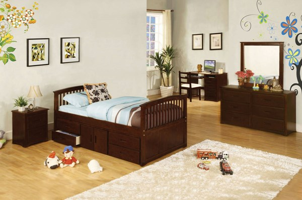 Furniture of America Caballero 4 Drawers Storage Twin Bed FOA-CM7032-524-BED