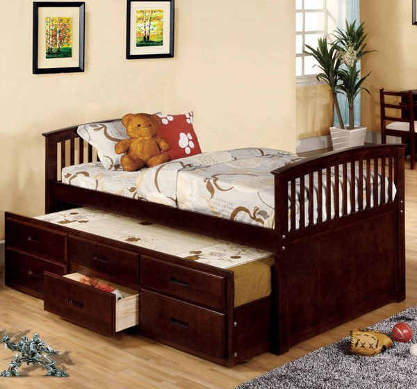 Furniture of America Bella II Full Trundle Drawers Bed FOA-CM7035CH-F-BED