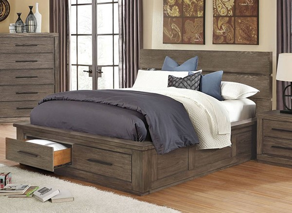 Furniture of America Oakes Dark Gray Cal King Bed FOA-CM7047GY-CK-BED