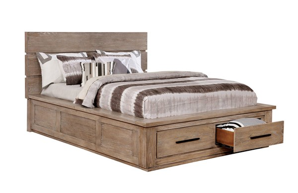 Furniture of America Oakes Light Gray Cal King Bed FOA-CM7047NT-CK-BED
