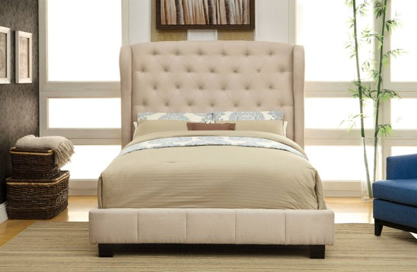 Furniture of America Fontes Ivory Cal King Bed FOA-CM7050IV-CK-BED