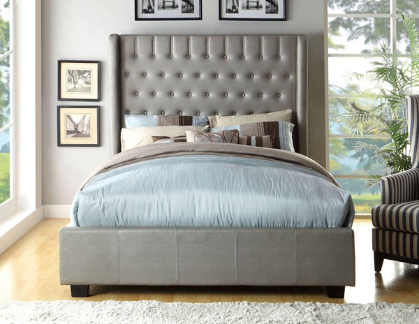 Furniture of America Mira Leatherette King Bed FOA-CM7055EK-BED