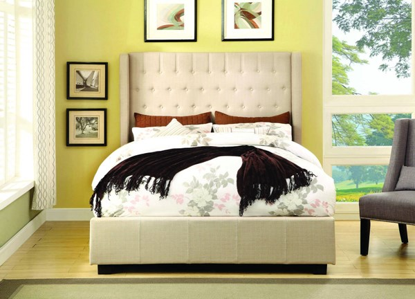 Furniture of America Mira Fabric Beds FOA-CM7055IV-BED-VAR