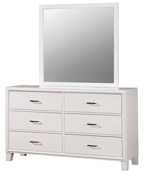 Furniture of America Enrico I White Dressers And Mirrors FOA-CM7068WH-DRMR
