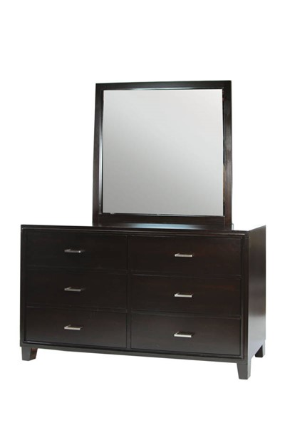 Furniture of America Gerico II Espresso Dresser and Mirror FOA-CM7088-DRMR