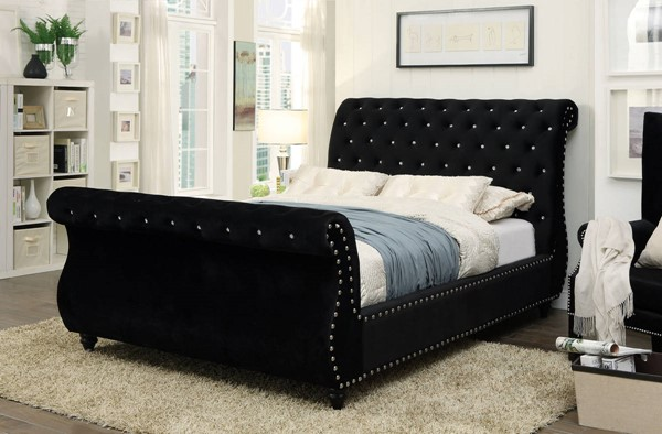Furniture of America Noella Black King Bed FOA-CM7128BK-EK-BED