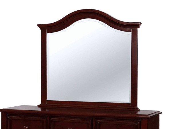 Furniture of America Olivia Dark Walnut Mirror FOA-CM7155EX-M