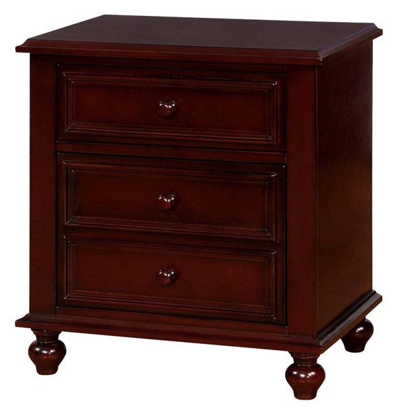 Furniture of America Olivia Dark Walnut Night Stand FOA-CM7155EX-N