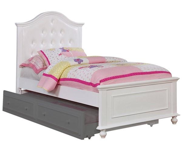 Furniture of America Olivia White Twin Bed FOA-CM7155WH-T-BED