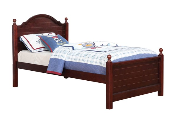 Furniture of America Diane Cherry Twin Bed FOA-CM7158CH-T-BED